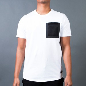 Nike Men Tech Hypermesh Pocket Tee (white / black)