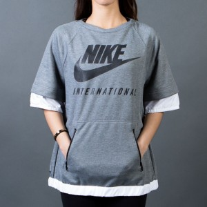Nike Women Women'S Nike International Tee (carbon heather / white)