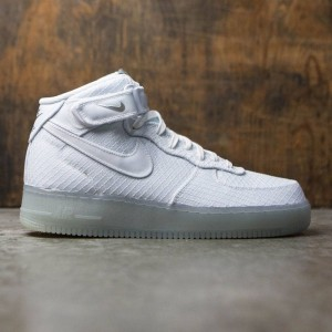 Nike Men Air Force 1 Mid '07 Lv8 (white / white-white-metallic silver)