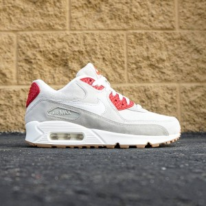 Nike Women Air Max 90 QS (white / summit white / beige chalk / gym red)