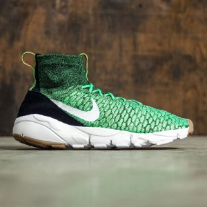 Nike Men Air Footscape Magista Flyknit Shoe (poison green / white-university red-black)