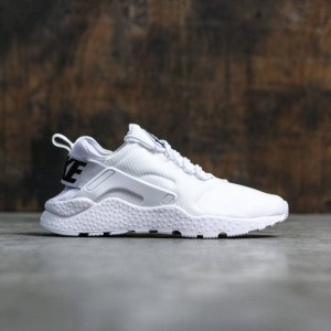 Nike Women Air Huarache Run Ultra Shoe (white / white-black)