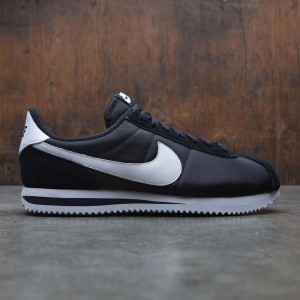 Nike Men Cortez Basic Nylon (black / white / metallic silver)