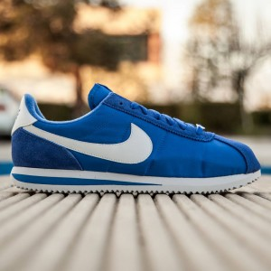 Nike Men Cortez Basic Nylon (blue / game royal / white / metallic silver)