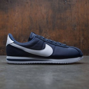 Nike Men Cortez Basic Nylon (navy / obsidian / white / metallic silver)