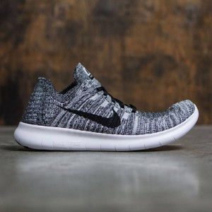 Nike Men Free Rn Flyknit Running (white / black)