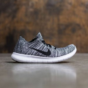 Nike Women Free Rn Flyknit Running (white / black)