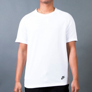 Nike Men Sportswear Bonded Top (white / black)