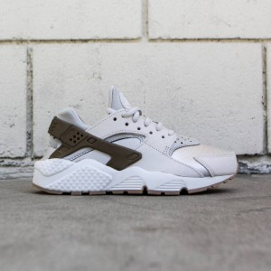Nike Women Air Huarache Run Premium Suede (gamma grey / phantom-gum yellow)