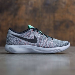 Nike Men Lunarepic Low Flyknit Running (white / black-bright mango-gamma blue)