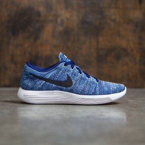 Nike Women Lunarepic Low Flyknit Running (dk purple dust / black-star blue-bluecap)