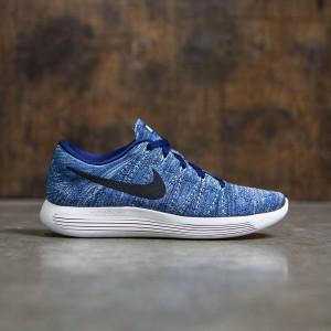 Nike Women Lunarepic Low Flyknit Running (dk purple dust / black-star blue-bluecap)