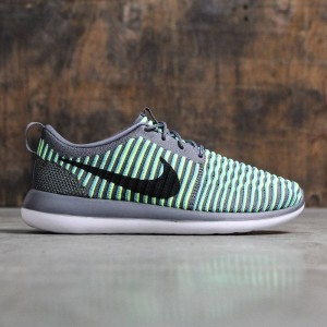 Nike Men Roshe Two Flyknit (dark grey / black-gamma blue-volt)