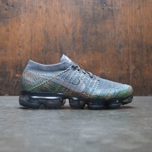 Nike Women Air Vapormax Flyknit Running (dark grey / reflect silver-blue orbit)