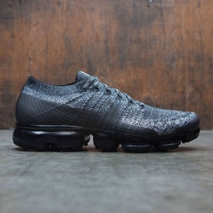 Nike Men Air Vapormax Flyknit Running (black / black-white-racer blue)