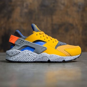 Nike Men Air Huarache Run Se (gold leaf / hyper cobalt-hyper cobalt)