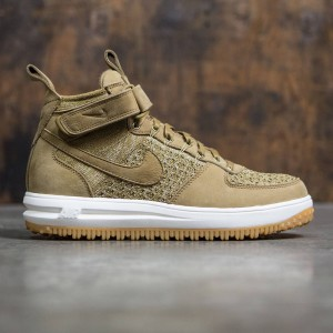 Nike Men Lunar Force 1 Flyknit Workboot (golden beige / sail-olive flak)