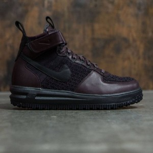 Nike Men Lunar Force 1 Flyknit Workboot (deep burgundy / black-summit white)