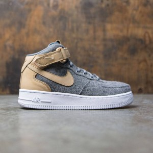 Nike Women W Air Force 1 '07 Mid Lthr Prm (oatmeal / oatmeal-oatmeal-black)