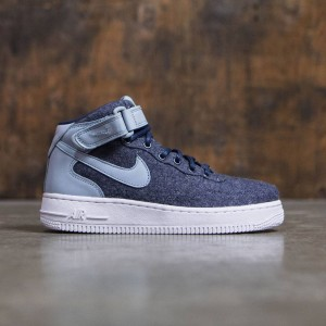 Nike Women W Air Force 1 '07 Mid Lthr Prm (midnight navy / midnight navy-blue grey)