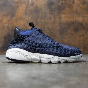 Nike Men Air Footscape Woven Chukka Se (obsidian / black-sail-black)
