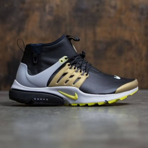 Nike Men Air Presto Utility Mid-Top (black / yellow streak-metallic gold)