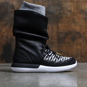 Nike Women Roshe Two Flyknit Hi (black / black-white-metallic gold)
