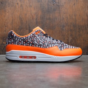 Nike Men Mike Air Max 1 Premium (black / black-total orange-white)