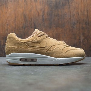 Nike Men Air Max 1 Premium (tan / flax / flax-sail-gum med brown)