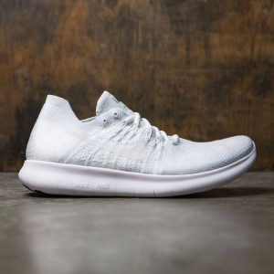 Nike Men Free Rn Flyknit 2017 Running (white / white-pure platinum-black)