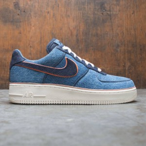 Nike Men Air Force 1 '07 Premium (stonewash blue / dark obsidian)