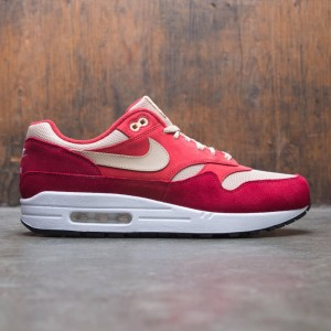 Nike Men Air Max 1 Premium Retro - Curry Pack (tough red / mushroom-rush red-pale vanilla)