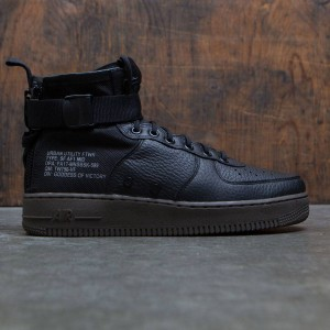 Nike Men Sf Air Force 1 Mid (black / black-dark hazel)