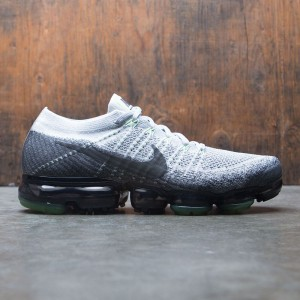 Nike Men Air Vapormax Flyknit Running (E) (white / pure platinum / anthracite-white-dark grey)