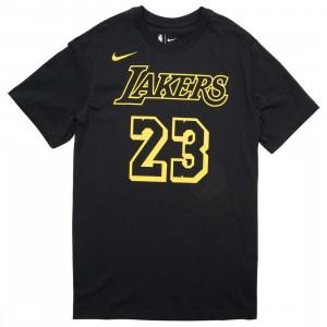 Nike Men Nba Tee - Lebron James Lakers (black / james lebron)
