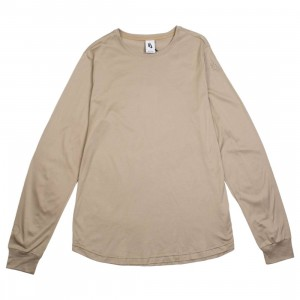 Nike Men Lebron X John Elliott Long Sleeves Tee (khaki / beechtree)