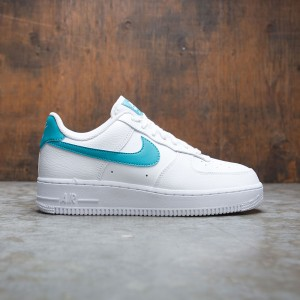 Nike Women Air Force 1 '07 (white / teal nebula-metallic gold)
