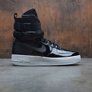 Nike Women Air Force 1 Sf Special Edition Premium (black / black-reflect silver-cool grey)