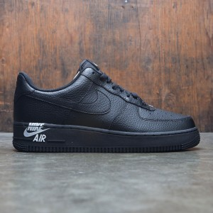 Nike Men Air Force 1 07 Leather (black / black-white)