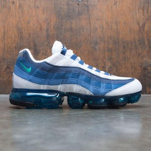 Nike Men Air Vapormax 95 (white / new green-french blue-lake blue)