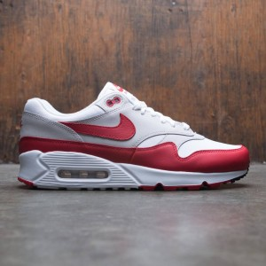 Nike Men Air Max 90 / 1 (white / university red-neutral grey-black)