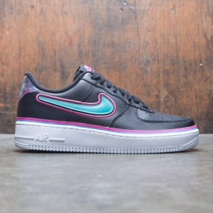 Nike Men Air Force 1 '07 Lv8 Sport (black / blue gale-laser fuchsia-white)