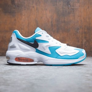Nike Men Air Max2 Light (white / black-blue lagoon-laser orange)