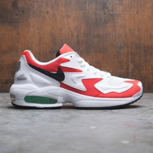 the latest a2488 686ad Nike Men Air Max2 Light (white   black-habanero red-cool grey)