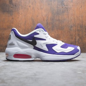 Nike Men Air Max2 Light (white / black-court purple-hyper pink)