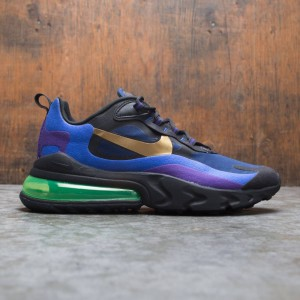 Nike Men Air Max 270 React (Heavy Metal) (black / university gold-deep royal blue)