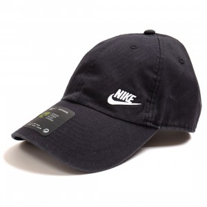 Nike Men Sportswear Heritage 86 Adjustable Hat (black / white)