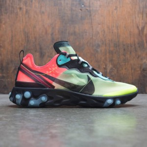 Nike Men React Element 87 (volt / aurora green-racer pink-black)