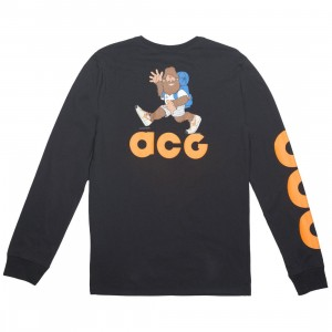 Nike Men Sportswear Acg Long Sleeve Tee (black / bright mandarin)