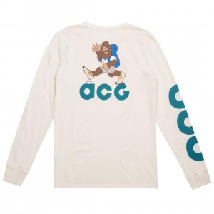 Nike Men Sportswear Acg Long Sleeve Tee (light cream / geode teal)